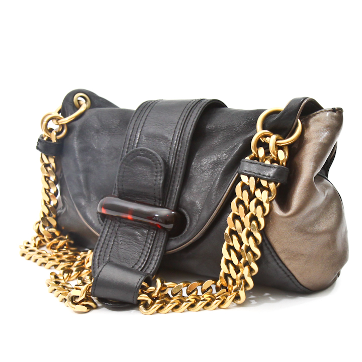 Gorgeous Snake Skin Print Bag Quality Over Quantity Price: Chloe Soft Leather Golden Chain Shoulder Bag