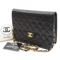 Chanel black lambskin chain bag (1 of 1)