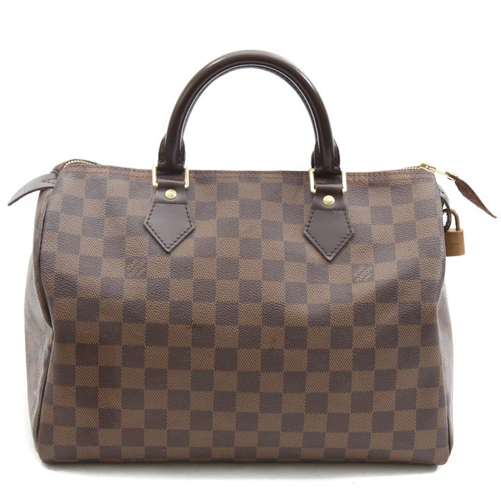 Louis vuitton damier ebene speedy 30 bag lvy612 bags of for Louis vuitton miroir speedy 30