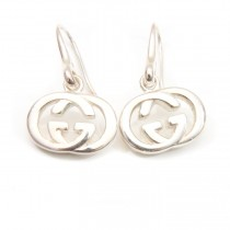 Gucci silver logo earrings (1 of 4)