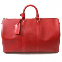 Louis Vuitton red epi keepall 45 (3 of 8)