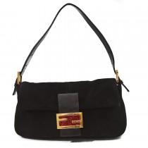 Fendi Black suede leather bag (4 of 13)