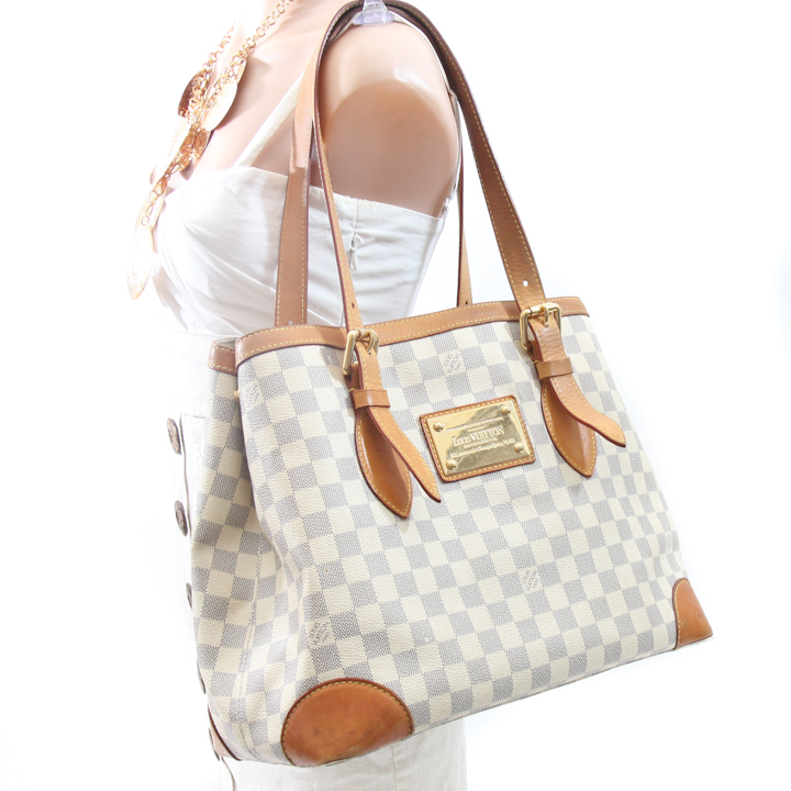 Louis Vuitton Damier Azur Hampstead MM Bag LVP662 - Bags of ... 853e57f38