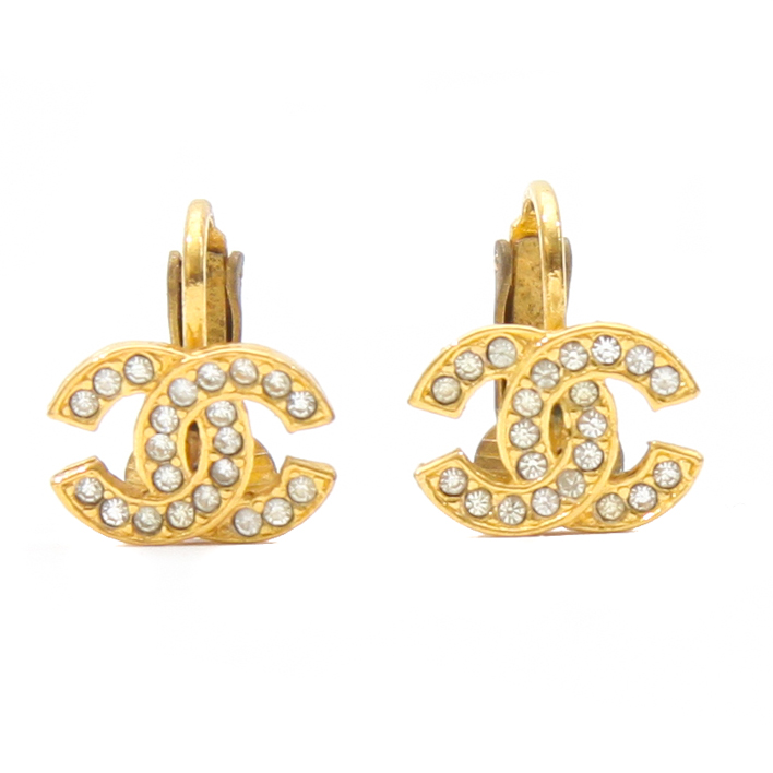 chanel gold cc logo clip on earrings cce17 bags