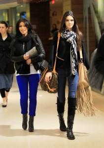 Kendal Kardashian looking good with her Saumur