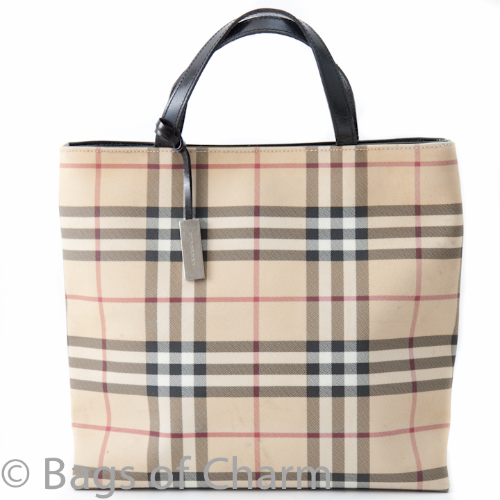 72ad9a1fb4be Burberry Classic Nova Check Tote Beige - Bags of CharmBags of Charm